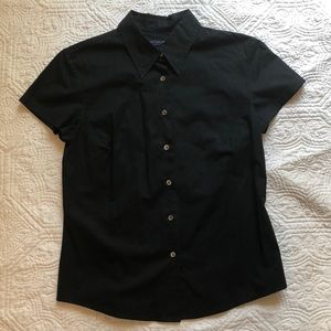Ann Taylor button up shirt with capped sleeves